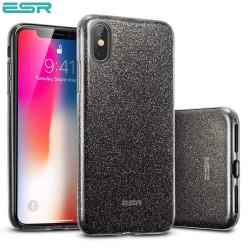 Carcasa ESR Makeup Glitter iPhone X, Black