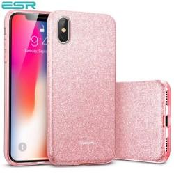 ESR Makeup Glitter case for iPhone X, Rose Gold