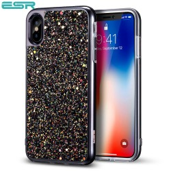 ESR Glitter case for iPhone X, Black