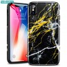 ESR Marble case for iPhone X, Black Gold Sierra