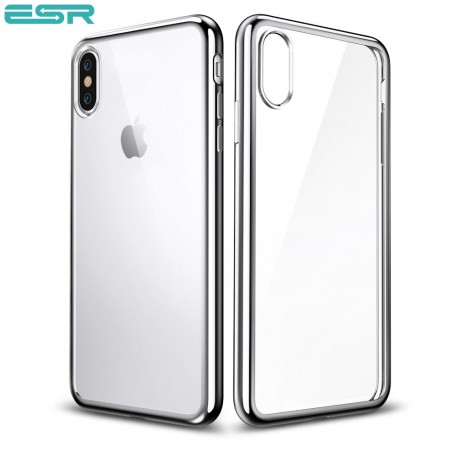 new arrival d23c9 c097c ESR Eseential Twinkler slim cover for iPhone X, Silver