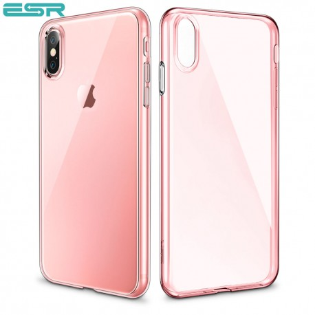 Husa slim ESR Eseential Zero iPhone X, Pink Gold