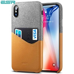 Carcasa ESR Metro iPhone X, Gray / Brown