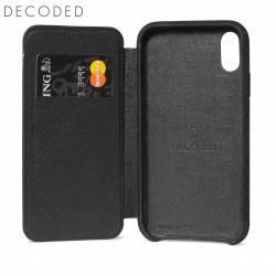 Decoded leather Slim Wallet iPhone XR, Black