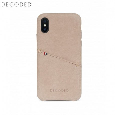 Decoded leather Back Cover for iPhone XS / X, Natural