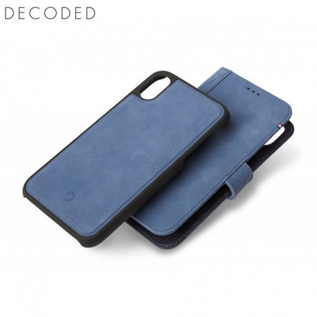Decoded leather Detachable Wallet for iPhone XR, Light Blue