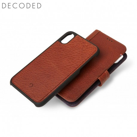 Carcasa piele Decoded Detachable Wallet iPhone XS Max, Brown
