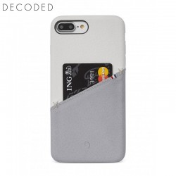 Carcasa piele Decoded Back Cover iPhone 8 Plus / 7 Plus / 6s Plus / 6 Plus, White / Grey