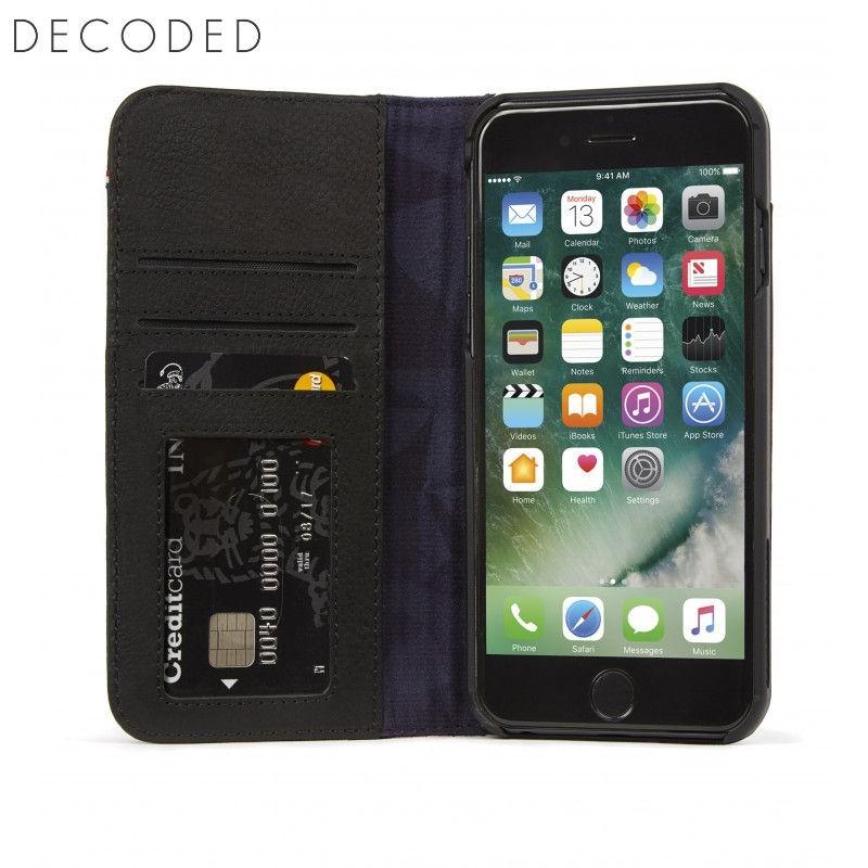 detailed look 66d2d 75627 Decoded leather Wallet Case for iPhone 8 Plus, 7 Plus, 6s Plus , 6 Plus,  Black