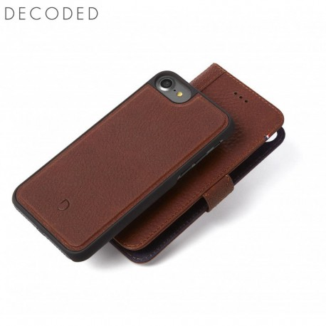 Carcasa piele Decoded Detachable Wallet iPhone 8 , 7, 6s, 6, Brown
