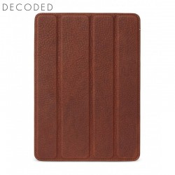 Decoded leather Tablet Slim Cover for iPad 9,7 inch 2017 and 2018, Brown
