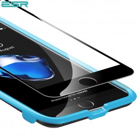 Folie sticla securizata ESR, Tempered Glass Full Coverage iPhone 8 Plus / 7 Plus, Black Edge