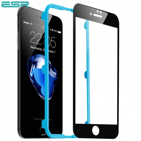 Folie sticla securizata ESR, Tempered Glass Full Coverage iPhone 6s Plus / 6 Plus, Black Edge