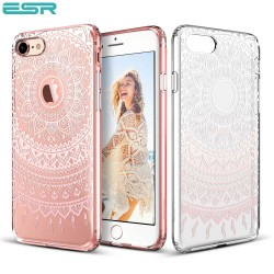 ESR Totem case for iPhone 8 / 7, Pink Manjusaka