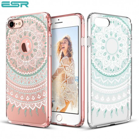 Carcasa ESR Totem iPhone 8 / 7, Mint Mandala