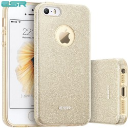 ESR Makeup Glitter case for iPhone SE / 5s / 5, Champagne Gold