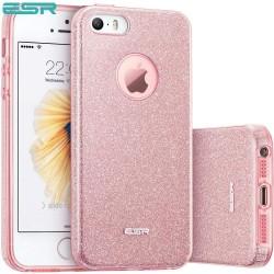 Carcasa ESR Makeup Glitter iPhone SE / 5s / 5, Rose Gold