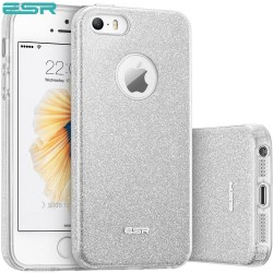 ESR Makeup Glitter case for iPhone SE / 5s / 5, Maze Silver
