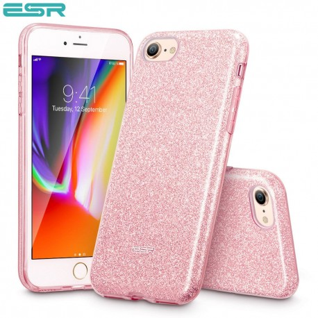 ESR Makeup Glitter case for iPhone 8 / 7, Rose Gold