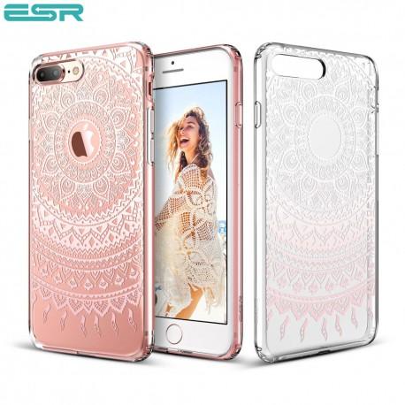 ESR Totem case for iPhone 8 Plus / 7 Plus, Pink Manjusaka