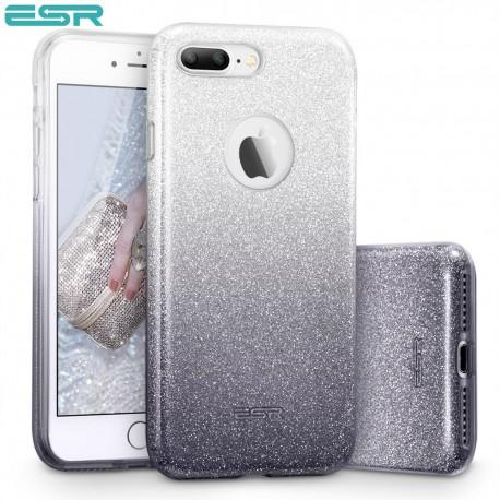 Carcasa ESR Makeup Glitter Sparkle Bling iPhone 8 Plus / 7 Plus, Ombra Black