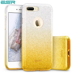 ESR Makeup Glitter Sparkle Bling case for iPhone 8 Plus / 7 Plus, Ombra Gold