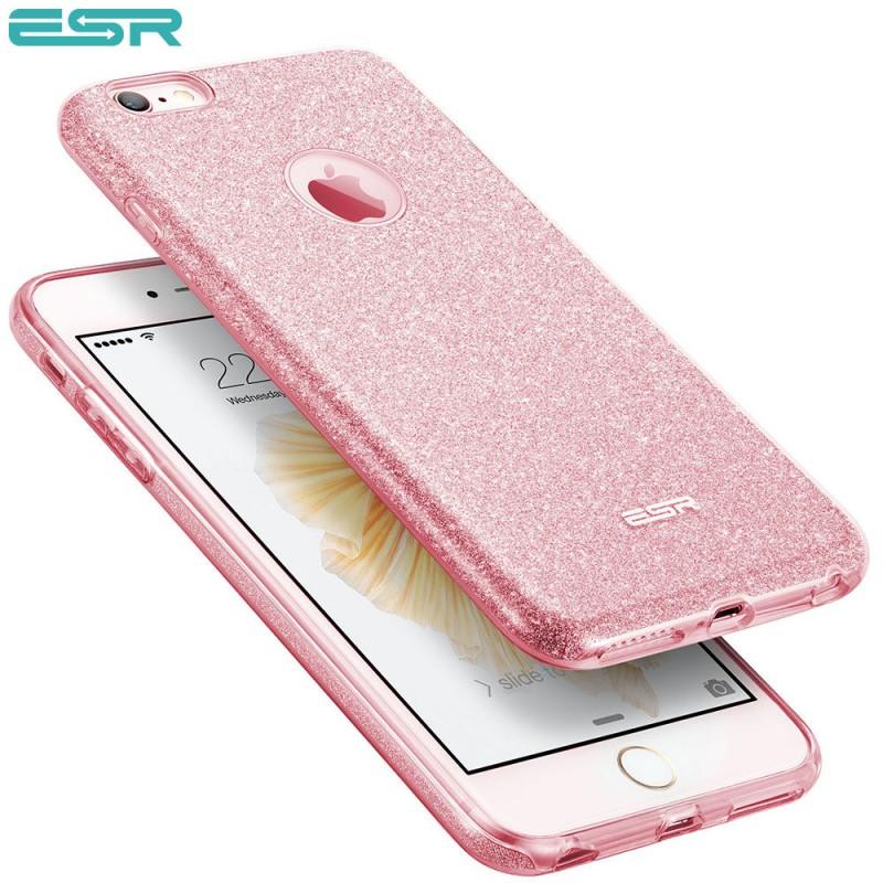 30699fa5bf ESR Makeup Glitter case for iPhone 6s Plus / 6 Plus, Rose Gold
