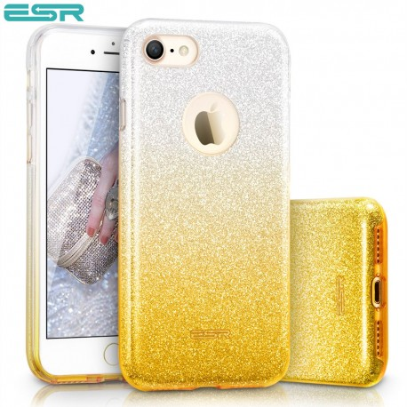 Carcasa ESR Makeup Glitter Sparkle Bling iPhone 8 / 7, Ombra Gold