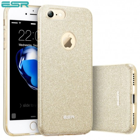 Carcasa ESR Makeup Glitter Sparkle Bling iPhone 8 / 7, Champagne Gold
