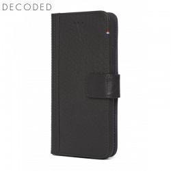 Carcasa piele Decoded tip portofel, inchidere magnetica iPhone XS / X neagra