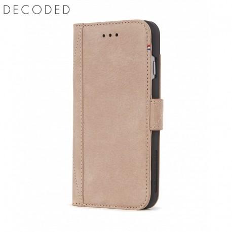 Husa piele tip carte, buzunare carduri, inchidere magnetica iPhone 8 / 7 / 6s Decoded roz