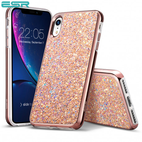 ESR Glitter case for iPhone XR, Rose Gold