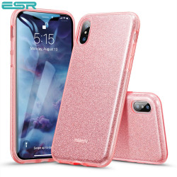 ESR Makeup Glitter case for iPhone XS / X, Rose Gold