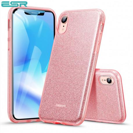 ESR Makeup Glitter case for iPhone XR, Rose Gold