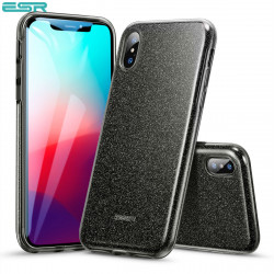 Carcasa ESR Makeup Glitter iPhone XS Max, Black