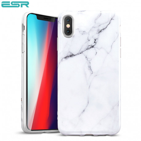 ESR Marble case for iPhone XS Max, White