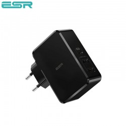 Incarcator de retea ESR Power Delivery (PD) Charger 41W, 1 port USB-C + 2 porturi USB-A, Black
