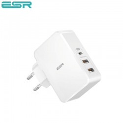 Incarcator de retea ESR Power Delivery (PD) Charger 41W, 1 port USB-C + 2 porturi USB-A, White