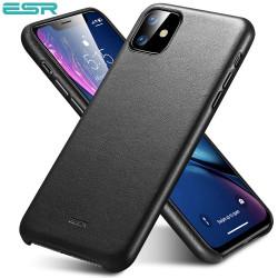 ESR Premium Real Leather Case for iPhone 11, Metro Leather, Black