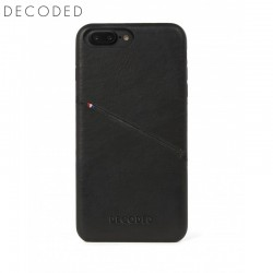 Husa piele capac spate pentru iPhone 8 Plus / 7 Plus / 6s Plus / 6 Plus (5,5 inch) Decoded neagra