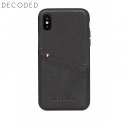 Husa piele capac spate pentru iPhone XS / X Decoded neagra