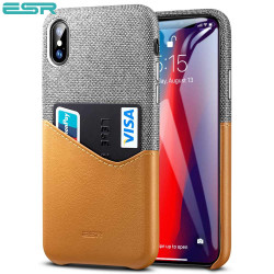 ESR Metro case for iPhone XS Max, Gray / Brown