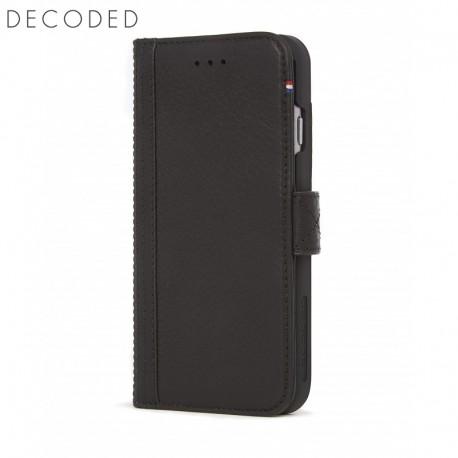 Husa piele tip portofel, inchidere magnetica iPhone 8 / 7 / 6s / 6 (4.7 inch) Decoded neagra