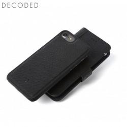 Husa piele 2in1 tip portofel, spate detasabil, inchidere magnetica iPhone 8 / 7 / 6s / 6 (4,7 inch) Decoded neagra