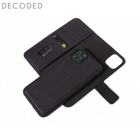 Carcasa piele Decoded Detachable Wallet iPhone 11 Pro Max, Black