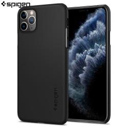 Husa slim Spigen iPhone 11 Pro Case Thin Fit, Black