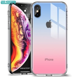 Carcasa ESR Mimic iPhone XS / X, Red Blue