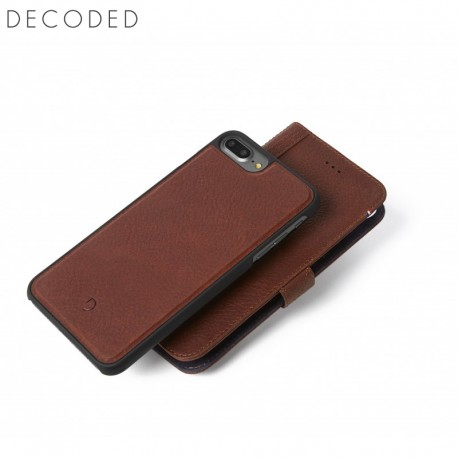 separation shoes 4f732 4d638 Leather 2-in-1 wallet case Decoded with removable back cover for iPhone 8  plus / 7 plus / 6s plus / 6 plus, brown