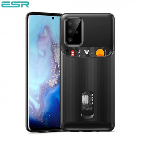 ESR Wallet Armor Case with Card Holder for Galaxy S20 Plus, Black
