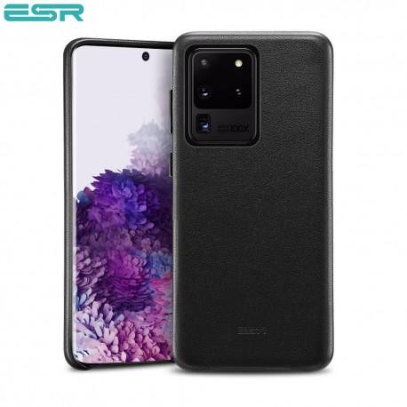 ESR Metro Premium Leather Phone Case for Samsung Galaxy S20 Ultra, Black